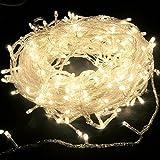 Salcar 2 x LED Lichterkette (10m) mit 100 LED-Lämpchen, Dekoration für Festen (Warmweiß)