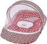 #9: My Newborn Baby Cotton Bedding Set with Mosquito Net (Red-JokerPillow)