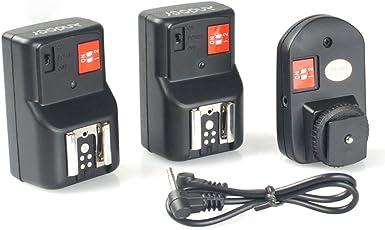 Andoer® PT-04GY 4 canali senza fili a distanza Speedlite Flash Trigger universale 1 trasmettitore e 2 ricevitori per Canon Nikon Pentax Olympus
