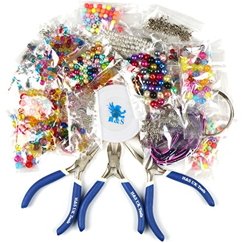 hs-deluxe-jewellery-making-kit-starter-tool-pliers-set-silver-beads-findings-large