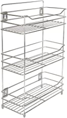 Embassy Multipurpose Storage Shelf/Spice Rack, Triple (3-Tier), 38x15x54 cms (LxBxH), Stainless Steel (For Kitchen, Bathroom etc.)