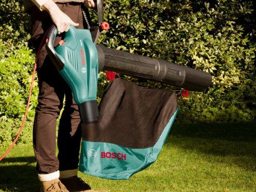 Bosch Laubsauger ALS 25 (Blas- und Saugrohr, Fangsack 45 Liter, Schultergurt, 2500 Watt, Luftstromgeschwindigkeit 280-300 km/h) -