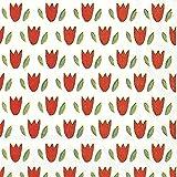 Tulip Garden Rouge Cocktail ou de thé Serviettes en papier carré 25cm 20en Lot