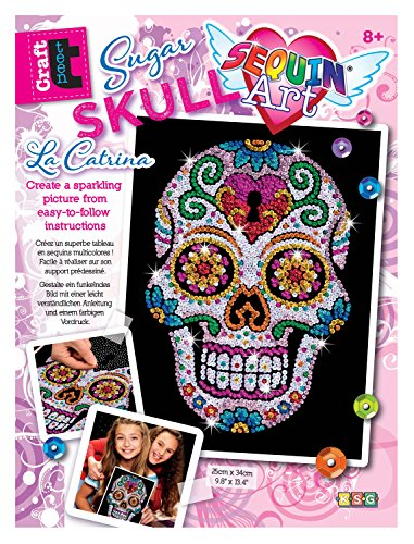 mammut-8311613-sequin-art-teen-craft-sugar-skull-circa-365-x-272-x-25-cm