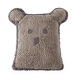 Cojín, diseño de oso, color gris oscuro