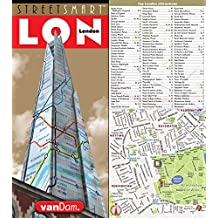 StreetSmart London Map by VanDam - City Street Map of London, England - Laminated folding pocket size city travel and Tube map with all museums, attractions, hotels and sights; 2017 Edition