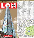 StreetSmart London Map by VanDam - City Street Map of London, England - Laminated folding pocket size city travel and Tube map with all museums, attractions, hotels and sights; 2018 Edition: 16