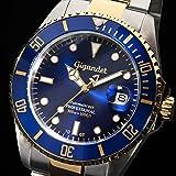 """Gigandet Herren Automatik-Armbanduhr """"Sea Ground"""" Analog Edelstahlarmband Blau Gold G2-001 - 4"""