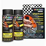 Dupli Color 388118 DC Sprayplast-Set, Schwarz Seidenglanz, 2 x 400 ml