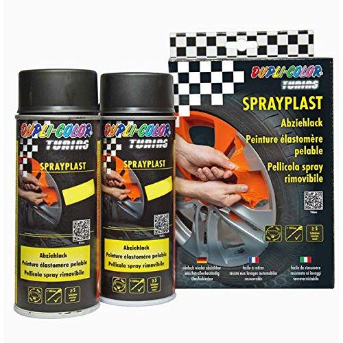 Dupli Color 388118 DC Sprayplast-Set, Schwarz Seidenglanz, 2 x 400 ml -