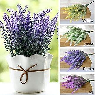 muxiao Flor de Imitación para La Decoración Vívido Manojo Artificial de La Flor de Lavanda Planta de Simulación Artificial Lavanda Plástico Púrpura Flores Falsas Decoración