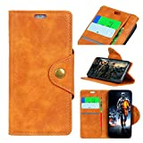 FugouSell iPhone 9 Case, iPhone 9 Shell Folio Flip Cover Protective Shell Slim Shell Compatible with iPhone 9 (Brown)