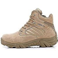 LiliChan Uomo Tattici Boots Delta Zip Laterale Uniforme Stivali Militari Lavoro della Caviglia