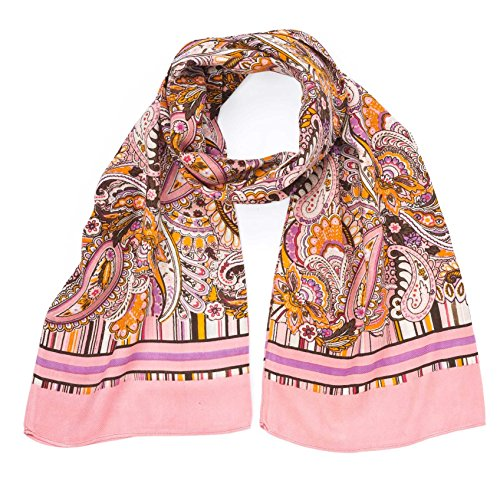 Oilily Schal Tuch Eau de Fleurs Ovation Vintage Pink 27 x 170 cm-100% Viscose