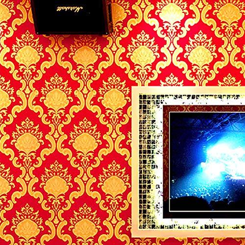 yhyxll Europäische Wallpaper 3D Flash Wallpaper ktv tanzhalle themenzimmer Gold Wallpaper 1 -