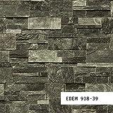 MUESTRA de papel pintado EDEM serie 918 | Papel pintado no tejido XXL piedra, 918-XX:S-918-39
