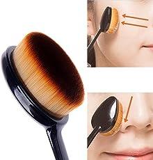 RIANZ Oval Foundation Brush,Oval Make Up Face Powder Blusher