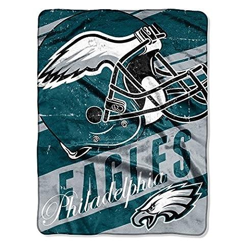 NFL Philadelphia Eagles Deep Slant Micro Raschel Throw, 46