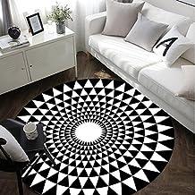 LMX Alfombra Escandinavo Moderno Simple Almohadilla Redonda Almohadilla de Cuna / Estudio / Dormitorio / Sala Alfombra / Cama / Almohadilla de Ordenador ( Color : 1# , Tamaño : 100cm )
