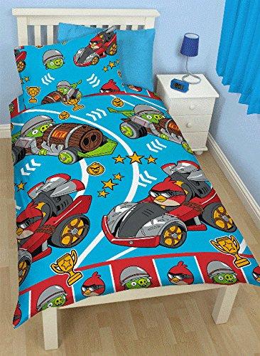 Angry Birds Go  Bettwaesche 135x200 cm und Kissen  48 x 74 cm Wendebettwaesche (Angry Bird Kissen)