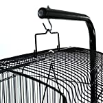 Easipet Large Metal Bird Cage with Stand Suitable For Multiple Birds (Black) 11