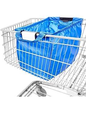 achilles®, Easy-Shopper Standard, AD101, Faltbare Einkaufswagentasche, 33 x 39 x 54 cm