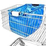 achilles Easy-Shopper, faltbare Einkaufswagentasche, Einkaufstasche passend für alle gängigen Einkaufswagen, Tasche in royal blau, 54x35x39 cm