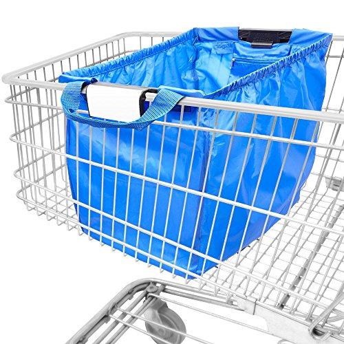 achilles Easy Shopper, sac shopping pliable, sac shopping adapté à tous les paniers, sac en bleu royal, 54x35x39 cm