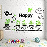 YUANLINGWEI Pastorale Pflanze Blume Wand Aufkleber 3D Acryl Drei-Dimensionalen Wand Aufkleber Mieter Halle Schlafzimmer Home Dekoration Für Kinder Malerei (55 * 100Cm)