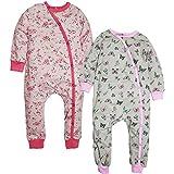 Kadambaby- Premium Baby Sleep Suit And One Piece Romper Bodysuit For Newborn Butterfly Polka Sleepsuit For Baby - Set Of 2