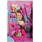 Unbekannt Steffi Love mit langen Haaren und Haarzubehör, 29cm Puppe: Langhaar Rapunzel Anzieh Ankleide Puppe in Barbie-Größe mit Frisierkopf