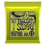 Ernie Ball Regular Slinky Saiten für E-Gitarre Saiten (10–46)–inklusive 6gratis Peavey Plektren
