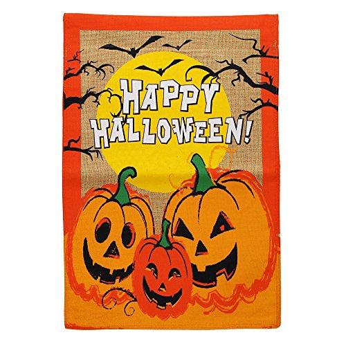 Morigins 31,8x 45,7cm Deko Happy Halloween Jack O Laterne Kürbis Garten Flagge (Halloween Witze Happy)