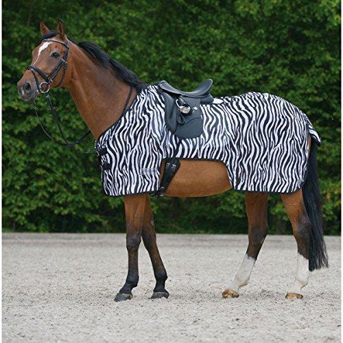 Waldhausen Fliegenausreitdecke Zebra, 145 cm, schwarz/weiß, 145 cm -