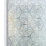 Homein Fensterfolie Selbstklebende Folie für Fenster Bunt Sichtschutzfolie Selbsthaftend Klebefolie Blickdicht Sichtschutz Glastüren Bad Window Film ohne Kleber 3D Motiv Eiskristall 90 x 200 cm