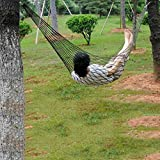 Hammock Hanging Mesh Sleeping Bed Swing Outdoor Travel Camping Loungers - army green