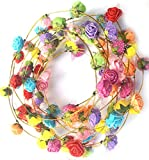 Masti Zone Pack of 5 Valentines Day Party Props Colorful Flower / Floral Tiara Hairband / Headband
