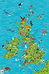 Children's Wall Map of the United Kingdom and Ireland Paperback