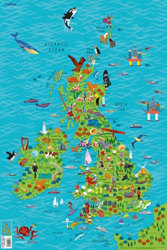 Children's Wall Map of the United Kingdom and Ireland (Maps) por Collins Maps