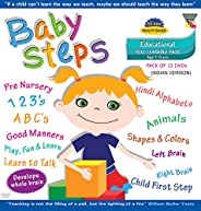 Baby Steps (Indian Version) Pack Of 12 Dvd'S (Age 1 - 5Yrs):  Pre Nursery, 123'S,Abc'S, Hindi Alph