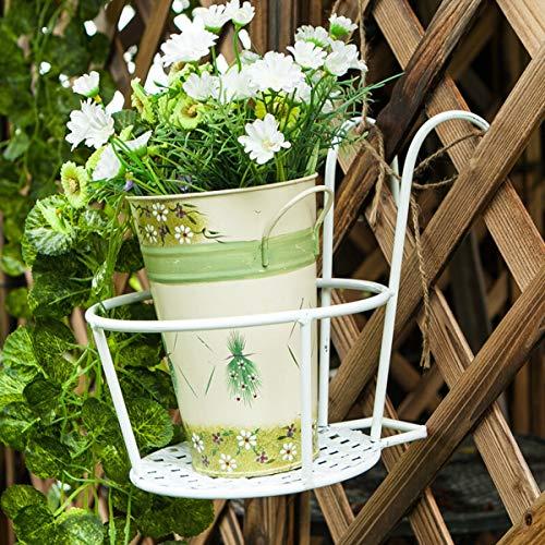 GLXQIJ 3 PCS Balcon Suspendu Pot De Fleur Jardin Petite Plante Stand Fer Fleur Pergolas Plantes Succulentes IntéRieur Maison Stand éTagèRe,White