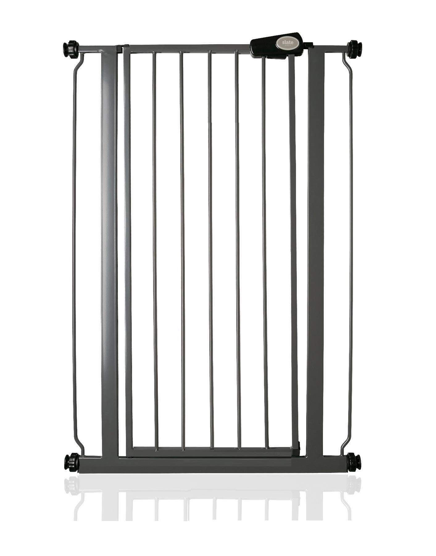 Bettacare Child and Pet Gate Range 75cm - 147.5cm (68.5cm - 75cm, Slate Grey) Bettacare Pressure Fitted White Metal Gate Double Locking Mechanism 2