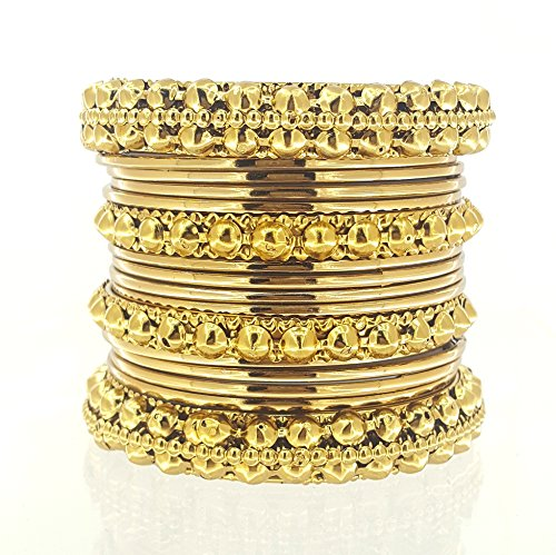 YouBella Traditional Bridal Jewellery Gold Plated Chura /Chuda Bangles Bracelet Jewellery for Women and Girls (2.4)  available at amazon for Rs.299