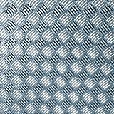 Alkor Klebefolie Dekofolie Folie 320-0001 Metall Riffelblech hochglanz silber 150 x 45cm