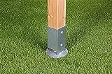 GAH-Alberts 208110 Einschlag-Bodenhülse für Vierkantholzpfosten, mit verstellbarem Topf - feuerverzinkt, 91 x 91 mm / 750 mm für GAH-Alberts 208110 Einschlag-Bodenhülse für Vierkantholzpfosten, mit verstellbarem Topf - feuerverzinkt, 91 x 91 mm / 750 mm
