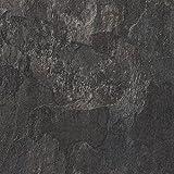 BODENMEISTER BM73340 klick Laminat-Boden Steinoptik, rundum gefast 4 V-Fuge, Fliesenoptik Schiefer dunkel-grau, 605 x 282 x 8 mm