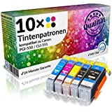 Set 10x Tintenpatrone XL für Canon PGI-550XL & CLI-551XL Canon Pixma IP 7250 IP 8750 IX 6850 MG 5450 MG 5550 MG 6350 MG 6450 MG 7150 MX 725 MX 925