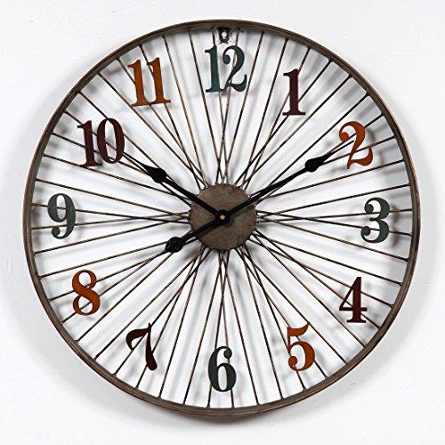 Riva776Yale 60 CM Estilo Retro Reloj Pared hogar Dormitorio