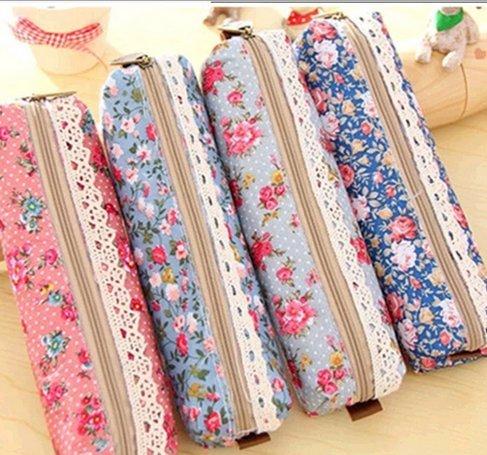 Fablcrew 4pcs Pencil Case Estuche de estilo floral