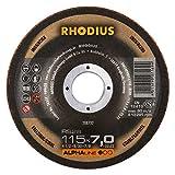 RHODIUS RS28 115 x 7, 0 x 22, 23 mm 5 Stück Edelstahl Stahl Schruppscheiben 0 x 22,23 mm für Winkelschleifer Schleifscheibe, 200 W, 240 V